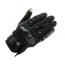 NEW RS Taichi  RST410 Mens Black L Perforated leather Motorcycle Mesh Gloves