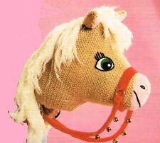 Retro Hobby Horse  knitting pattern. Laminated  copy.