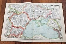 1899 double page map from g.w. bacon - black sea countries !