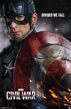 Captain America Civil War Movie Poster 22x34 Iron Man Chris Evans