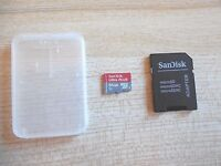 SanDisk - Ultra PLUS 64GB microSDXC UHS-I Memory Card - Red/Gray