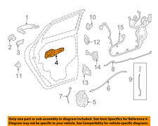GM OEM Lock -Rear Door-Handle Base Right 42527449