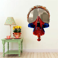 3D Super Hero Spider-man Mural Art Vinyl Wall Decal Sticker Kids Room Decor