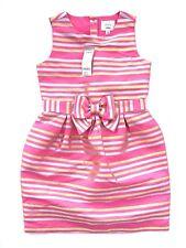 Gymboree Girls Fancy Pink Stripe Bow Dress, Size 12 NWT NEW!