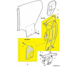 2004-2011 Bentley Continental GT Window Regulator #3W0839397N
