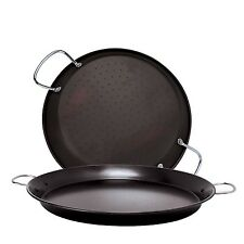 Ecolution Sol Carbon Steel Paella Pan 16-Inch Black Ecolution New