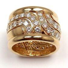 Women Ladies Sparking 18K Yellow Gold Plated White Topaz Ring Wedding Jewelry