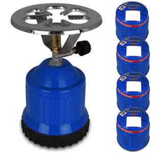 Butangasbrenner inkl 4 Gaskartusche Gaskocher Butan Gas Kocher Campingkocher NEU