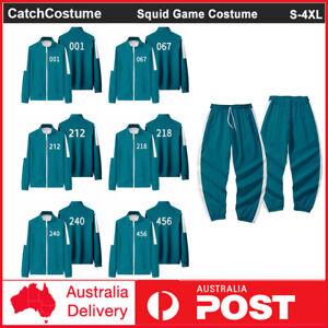 Squid Game Men Women Hoodie Tracksuit Pants Set Halloween Party Cosplay Costume