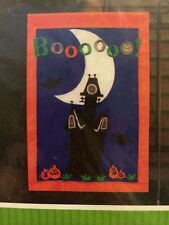 New! 12x18 Haunted House Halloween Small Flag Banner Garden Decor Boo!