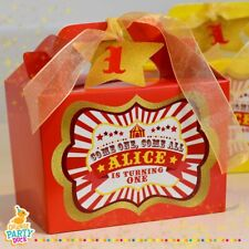 Personalised Gold Red Yellow Circus Showman Carnival Birthday Party Lunch Box