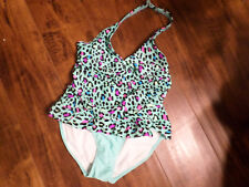 GIRLS NEW WITH TAGS OP 7/8 MEDIUM  1Pc Swimsuit Halter UPF 50 SHIPS FREE