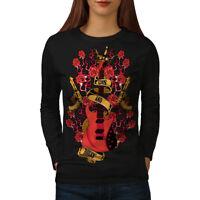 Roses and Guns Rock Women Long Sleeve T-shirt NEW   Wellcoda