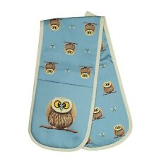 Double Oven Gloves - Owl / Bees - Country Style Gift - Lucy Pittaway - UK Made