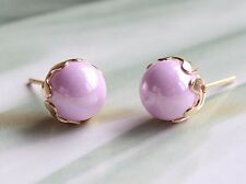 Round Simulated Pearl Beads Stud Earrings Jewellery Fashion 8mm