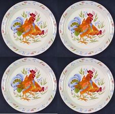 New! Set of 4 Corelle COUNTRY MORNING 10 1/4 DINNER PLATE - ROOSTER