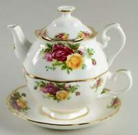 Royal Albert OLD COUNTRY ROSES 2 Cup Teapot with Cup & Saucer 10938563