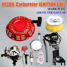 For Honda GX160 5.5HP Carburetor Recoil Ignition Coil Spark Plug Air Filter Gas
