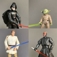 4x Star Wars Episode 1 Sith Darth Maul Vader Yoda master 1999 Action Figure Toys