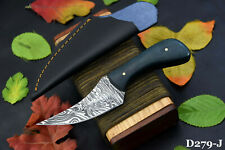 Custom Damascus Steel Skinning Hunting Knife Handmade,G-10 Micarta Handle D279-J