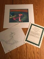 The Pink Panther Original Production Animation Cel+Sketch P16 Museum Vacumn Hose