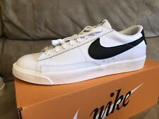 Nike Blazer Low Leather White/black/sail Men's Shoes Trainers UK 12 EUR 47.5