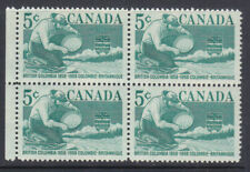 Canada 1958 British Columbia block of four MNH