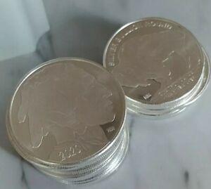 1 Ounce Silver Buffalo Rounds, Lot Of 20