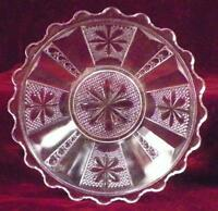Sedan Berry Bowl Panelled Star & Button EAPG Clear Glass Paneled 1880s Antique