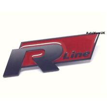 New VW R Line Badge Emblem Black Red Passat Golf Polo Tiguan Scirocco R20 R Car