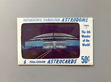 Vintage 1965 Houston Astrodome Post Card Set, 6 cards with original packaging