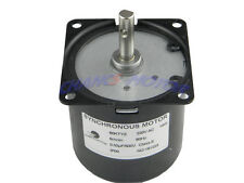 60KTYZ AC 220V 5RPM Robust Gear Box Motor Synchronous Motor CW/CCW Control 14W