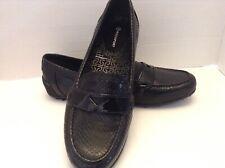 Rockport Woman's Black Leather Loafer Sz 8.5 Adiprene By Adidas NWOT