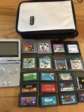 Nintendo Gameboy Advance Sp Silver Pokemon Mystery Dungeon Sonic Bundle Rare Nem