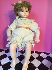 """Georgetown Collection """"Peaches and Cream"""" Porcelain Doll, Used No Box. B Box"""
