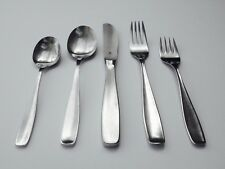 WMF CROMARGAN 'LINE' 5 PC. PLACE SETTING MCM MODERNIST FLATWARE KURT MEYER 1953