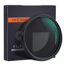 52/58/62/67/72/77/82mm K&F Concept ND Filter NO Spot X Black ND2 - ND32 Nanotec