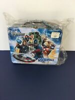 Marvel Avengers Assemble Tin Lunch Box 2012 3D Iron Man Thor & Cpt America