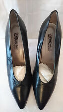 """Court shoes Top range F.68 Leather """"Black"""" I.Bossi T. 40"""