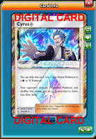 1X Cyrus 120/156 Pokemon Online Card TCG PTCGO Digital Card