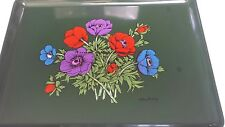 """Vintage Georges Briard Floral Tray Mid Century Signed 16""""x12"""""""