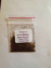 Organic Tobacco Seed Mixture (C. Criollo, Black Mammoth, Turkish Izmir)  (500+)