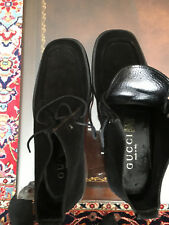 Gucci Black  Suede Men's Boots New Sz. 9 See measurements