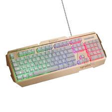 R300 USB Backlit Keyboard Wired White Gold BLN MultiColor Adjustable Backlight
