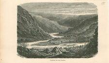 Ourthe affluent la Meuse Gouvy Liège Wallonie GRAVURE ANTIQUE OLD PRINT 1880