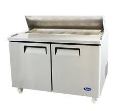 "Atosa Msf8303Gr 60"" Double Door Sandwich/Salad Prep Table"