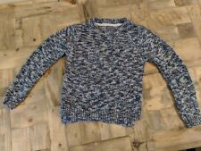 Next Girls Soft Cotton Mix Knit Jumper Long Sleeve Multi Blue & Pink  Age 10 VGC