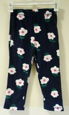 New Hanna Andersson Navy Floral Fleece Pants Size 130 / 8