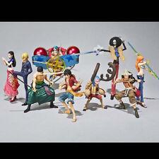 9pc Lot One Piece Robin Sanji Zoro Luffy Usopp Nami Brook Figure Figurine No Box