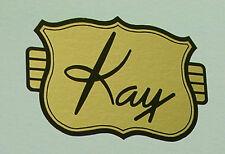 Water Slide Decal for Vintage Kay Guitars - Black/Gold